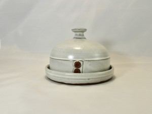White French Butter Dish
